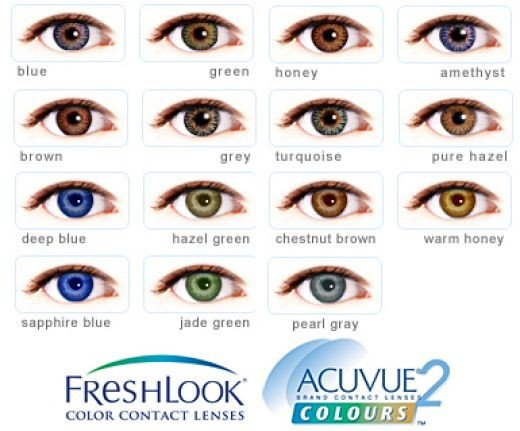 Coloured contact lenses Hackney